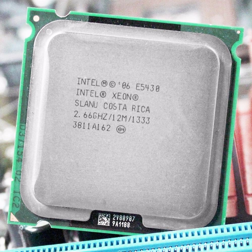Intel xeon e5430 processador cpu 771 a 775 (2.660 ghz/12 mb/1333 mhz/quad core) lga775 80 watt 64 bit trabalho em 775 placa-mãe