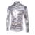 2016 Desgaste Del Club de Noche Elástico de Los Hombres Camisas Slim Fit Moda elegante Brillante Camisa Para Hombre Camisas de Manga Larga de los hombres camisa Del Partido CY68