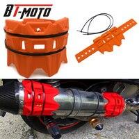 Para ktm 950 1190 1050 aventura motocicleta silenciador redondo oval protetor de escape proteger pode cobrir círculo