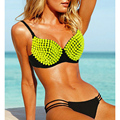 Summer Sexy Studed Bras,B 32 34 36 38 40 black green red rose gold Silver purple yellow,Metal/Plastic Studs Exotic Underwear