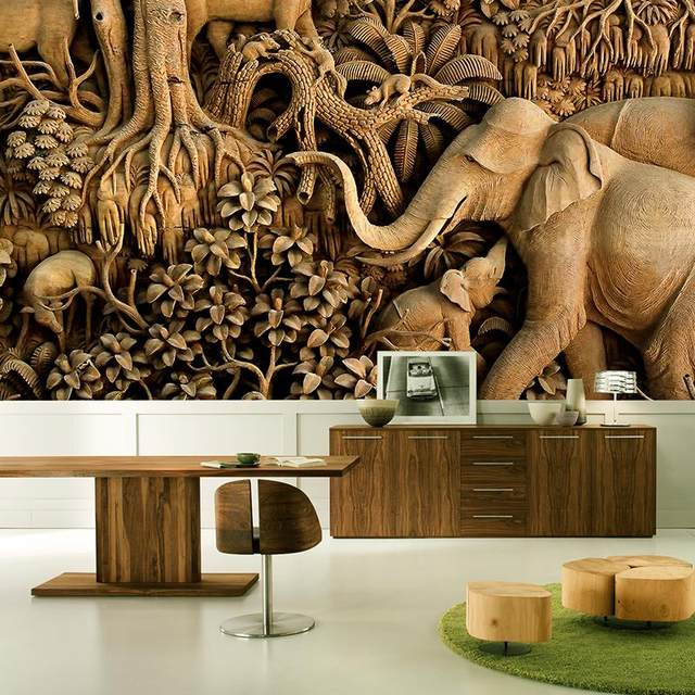 Online Shop 3D Photo Wallpaper Thailand Style Elephant