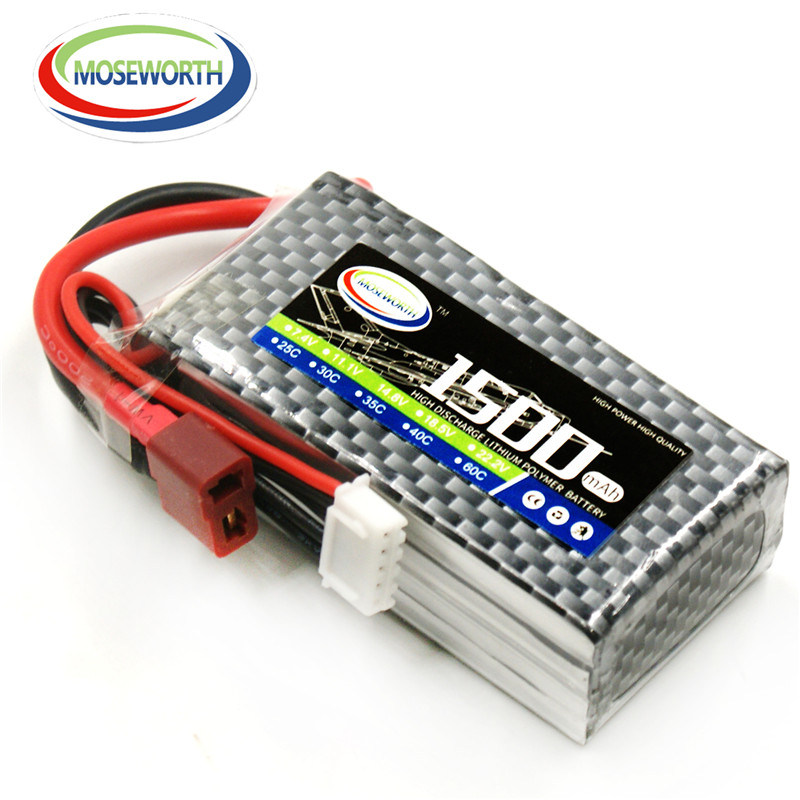 Battery <font><b>Lipo</b></font> <font><b>4S</b></font> 14.8V <font><b>1500mAh</b></font> 35C For Remote Control Toys Model RC Drone Quadcopter Helicopter Airplane Car Boat <font><b>Lipo</b></font> Battery image