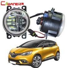 Cawanerl для Renault Scenic 2003-2015 автомобиля 4000LM светодио дный лампы Туман света + Angel Eye DRL дневные ходовые огни 12 В высокий яркий
