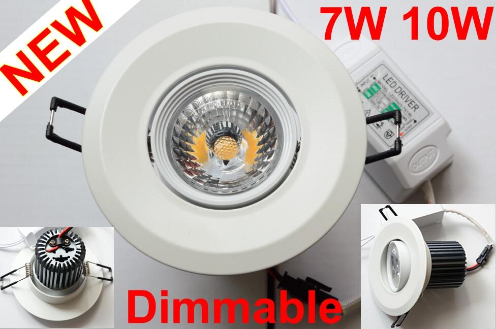 Stmívatelné COB LED Downlight 7W 10W Bodové LED osvětlení pro domácnost 770LM 1000LM 110V 220V zapuštěné vnitřní osvětlení