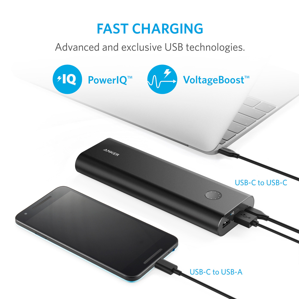 Image 5 - Anker PowerCore+ 20100 mAh USB C,Ultra High Capacity Portable Charger External Battery PowerIQ for iPhone,Samsung,MacBook etc-in Power Bank from Cellphones & Telecommunications