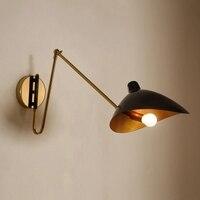 Nordic современный светодиодный стены ламповый стеклянный шар Ванная комната зеркало рядом с American Retro настенный светильник бра Wandlamp Настенный