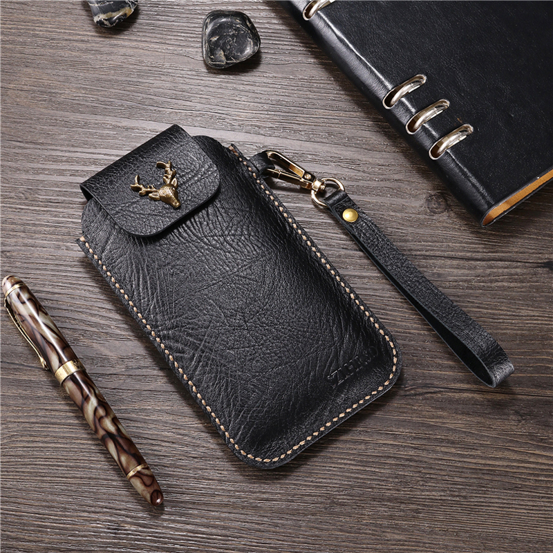 for Google Pixel 3 Lite Outdoor business belt clip Genuine Leather case for Google Pixel 3 XL Phone protective cover waist bag