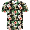 2017 Nova Agradável Flores Imprimir Casual camisa t Das Mulheres T camisa de Manga Curta T-shirt do Verão t-shirt das Mulheres Quentes Tops Tees M-4XL