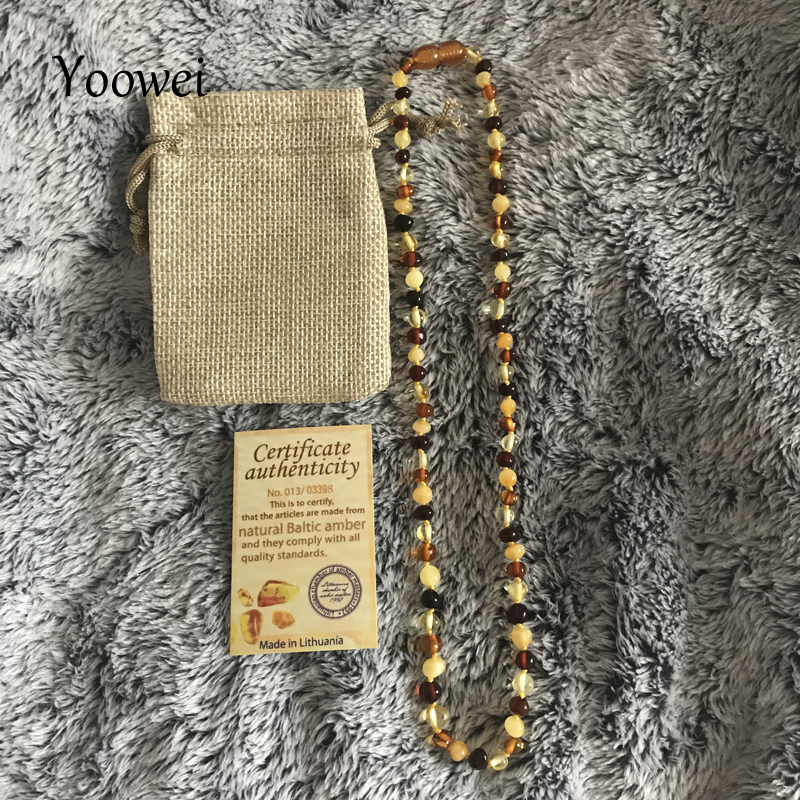 Yoowei Adult Amber Necklace 45cm--100cm Authenticity Handmade Knot Multi Genuine Baltic Natural Amber Sweater Chain Long Jewelry yoowei 4mm natural amber bracelet for women small beads no knots multilayered sweater chain necklace genuine long amber jewelry