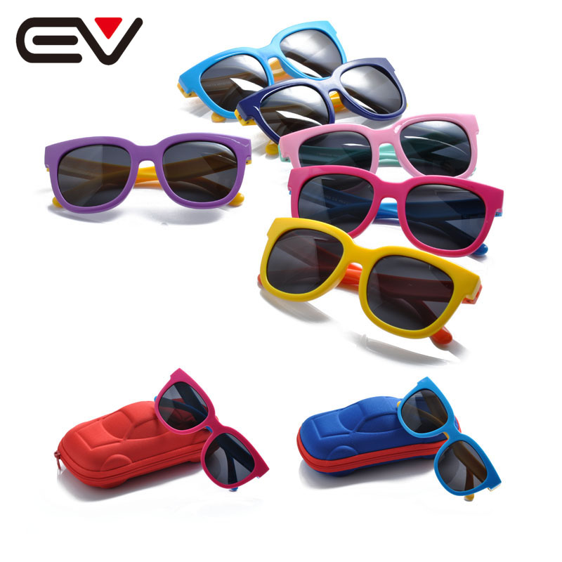 2016 Classic Baby Girls Boys Polarized Sunglasses Kids Children Toddler Outdoor Baseball Sports Sunglasses UV400 Protect EV1236