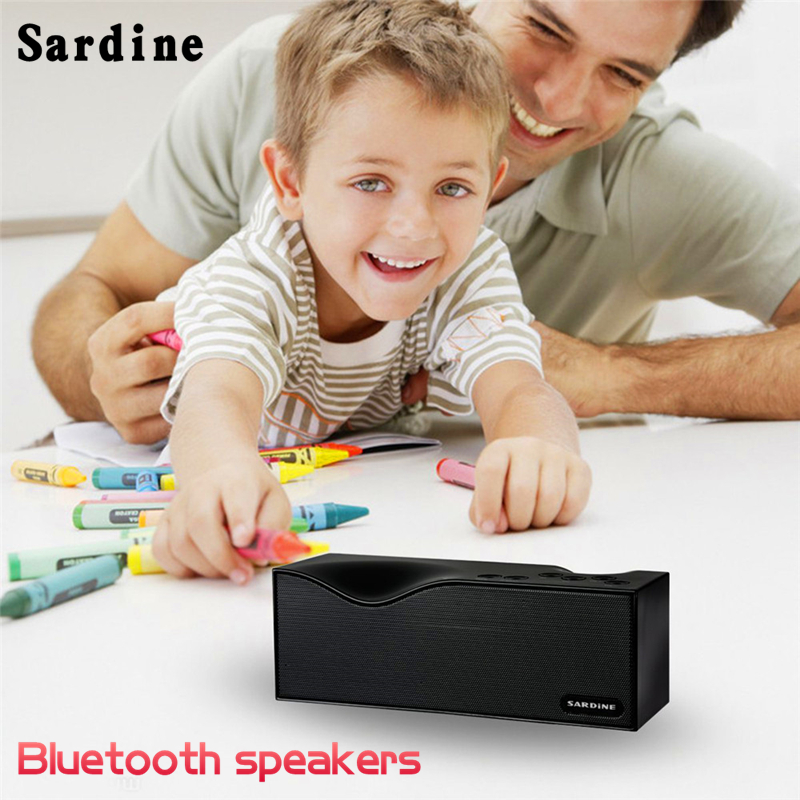 Original Sardine B1 Bluetooth V2.1+EDR wireles Stereo Speaker Support FM Radio Hands free LED Display with USB TF Card AUX Line