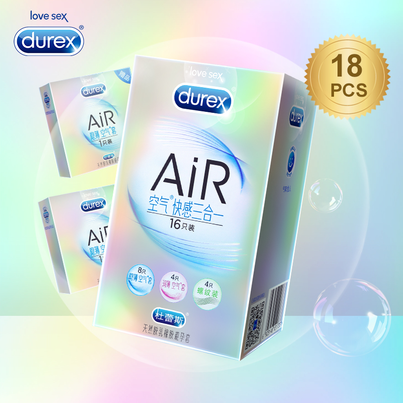 Durex AiR Condoms Kondoms Invisible Ultra Thin Lubricated Condom Ultrafire Penis Sleeve Erotic Product Sex Toy Intimate for Men