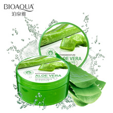 BIOAQUA Natural Aloe Vera Smooth Gel Acne Treatment Face Cream for Hydrating Moist Repair After Sun 220g