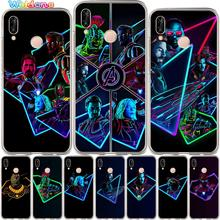 Marvel Avengers Phone Case For Huawei P30 P20 Lite Pro P10 P8 P9 2017 PSmart The avengers Iron man case Cover Etui