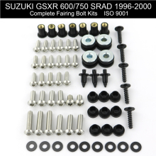 For Suzuki GSXR 600 750 SRAD 1996-2000 Motorcycle Full Fairing Bolts Kit Stainless Steel Clips Nut Bodywork Screws