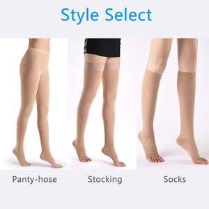 Image 3 - Yienws Medical Compression Stocking Women 25 30 mmHg Varicose Veins Open Toe Stockings Thigh High Compression Pantyhose YiG039