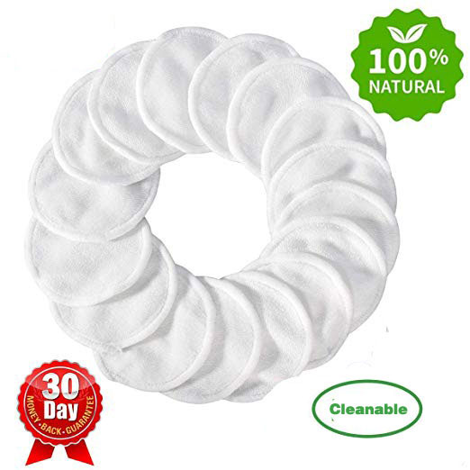 iCosow Reusable Makeup Remover Pads 150 Pcs, Washable Organic Bamboo Cotton Rounds, Toner Pads, Facial Soft Cleansing Wipes