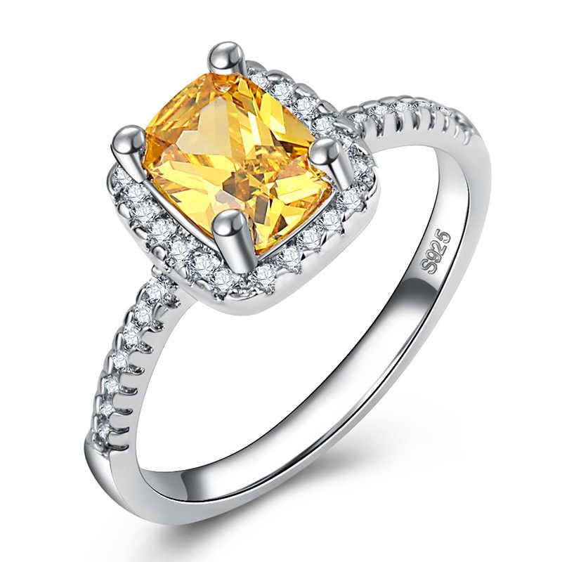 2018 ใหม่แฟชั่นคลาสสิก Soild 925 เงินสเตอร์ลิงเครื่องประดับแหวนแต่งงาน 2 กะรัต CZ หมั้นพรรคยี่ห้อแหวนของขวัญ