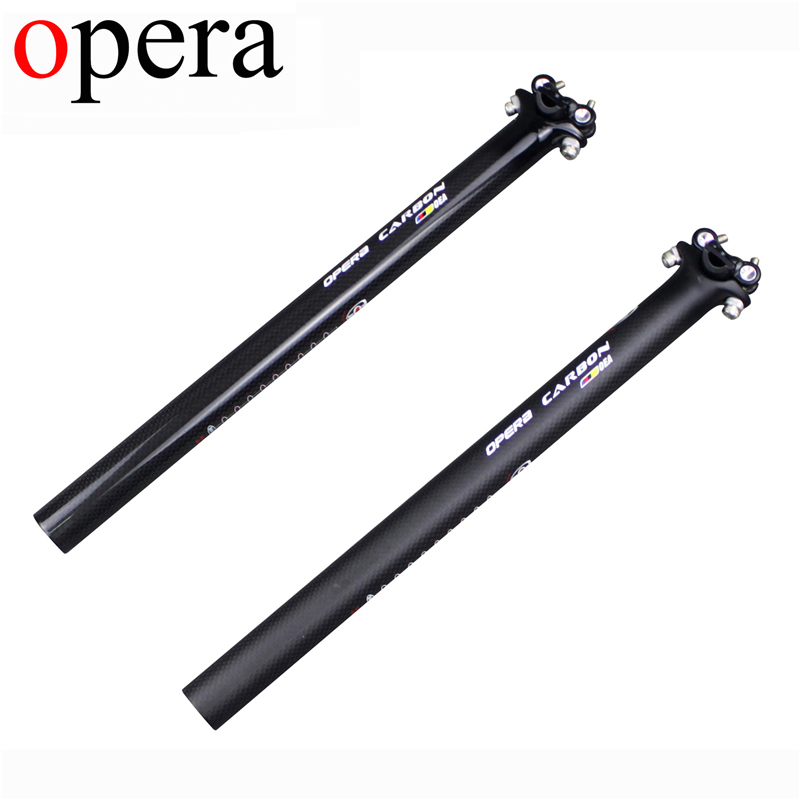 OPERA Free shipping The New Carbon Fiber Bicycle Seatpost MTB/Road bike Seat post 27.2/30.8/31.6*350/400/450mm gloss setpost