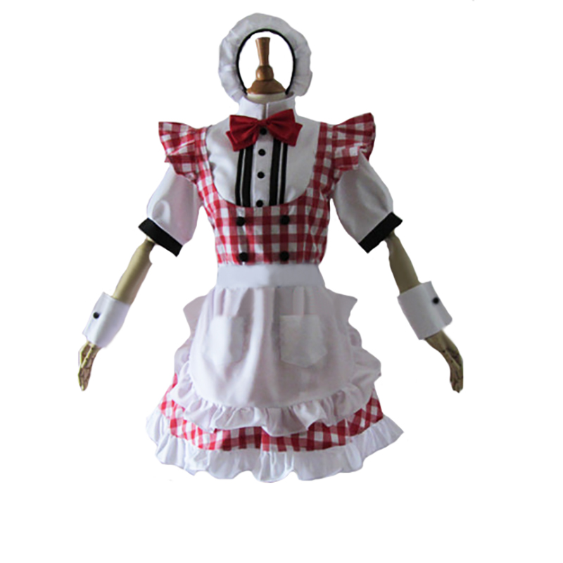 Persona 5 Anne Takamaki Panther Cosplay Costume maid dress with hair accessory