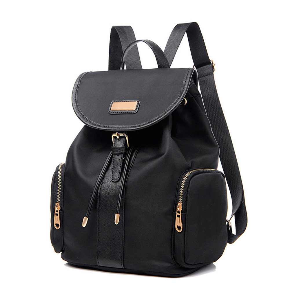 Vintage Women Nylon Backpacks For Teenage Girls School Bags Large High Quality Mochilas Escolares New Fashion Woman Backpack  title=