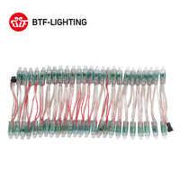 50 pcs/100 pcs 12 millimetri WS2811 IC RGB LED Pixel Modulo Luce Nero/Verde/RSF Filo cavo IP68 DC5V/DC12V Vacanze/Natale/Festival