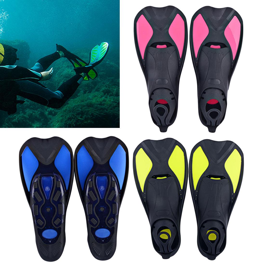 1 Pair Diving Swimming Fins Snorkeling Foot Flipper Flexible Comfort Adult Kids Short Frog Shoes Beginner Swimming Equipment