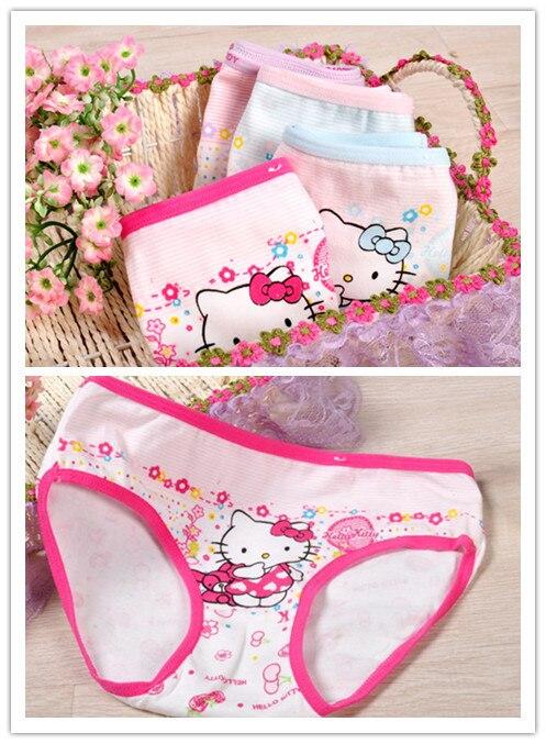 लड़कियों कपास बेबी पैंट अंडरवियर शॉर्ट्स बच्चों को संक्षिप्त थोक हैलो पैंटी किट्टी कपड़े मुफ्त शिपिंग 12pcs / बहुत 813a