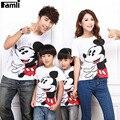 1 unid Familia Padre Madre Hija Hijo Ropa A Juego Camisetas Trajes de Verano Corto de Dibujos Animados de Moda Camisetas Ropa Fijada