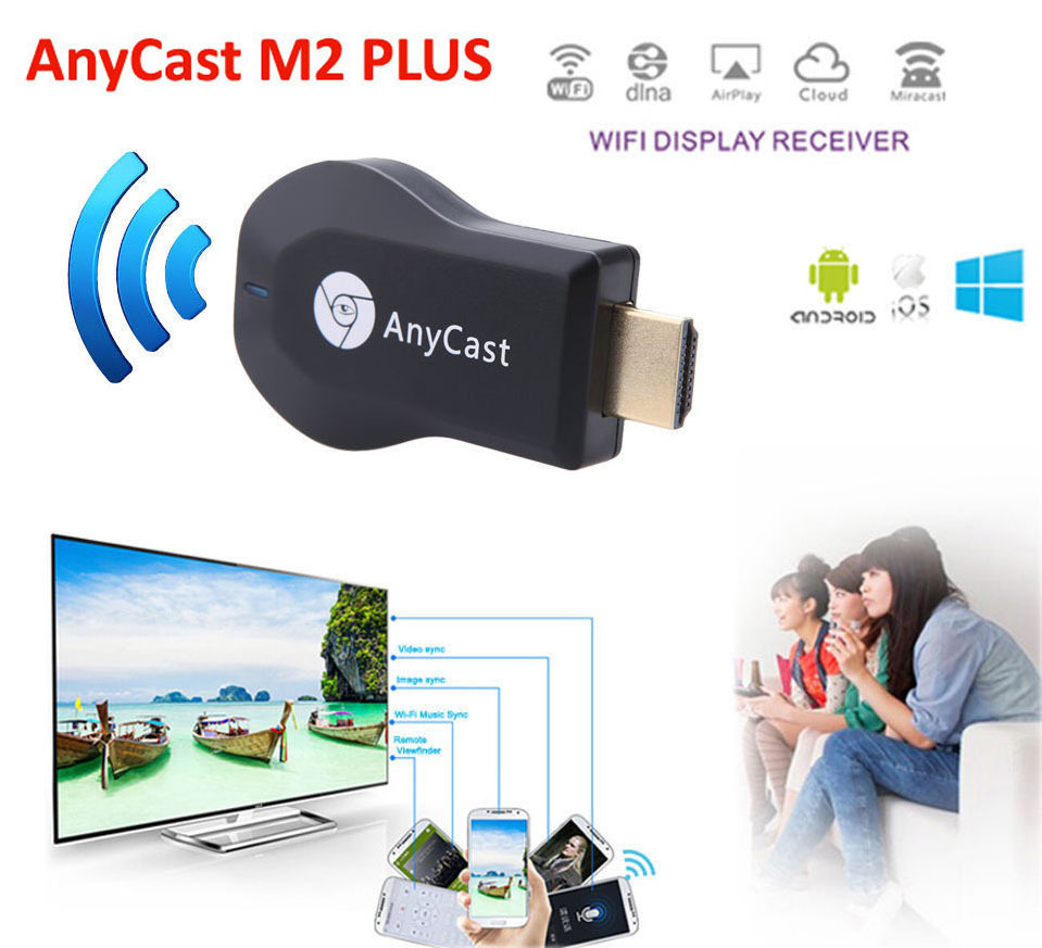 Anycast Ezcast Wecast Mirascreen Wireless Wifi Phone to HDMI TV HDTV Adapter Dongle For iPad iPhone