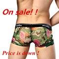 Envío Gratis Ropa Interior de Los Hombres Manview Malla De Impresión Rose Sexy Ropa Interior Pantalones de Cortocircuitos Delgados MGPJ