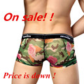 Free Shipping Men's Underwear Printing Mesh Manview Rose Sexy Underwear Pants Slim Shorts MGPJ