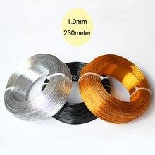 สี anodized อลูมิเนียมลวดเครื่องประดับหัตถกรรม 1/2 กก.1mm 18 Gauge 230 M/ม้วน 755ft DIY เครื่องประดับห่อประดับด้วยลูกปัดลวดโลหะ