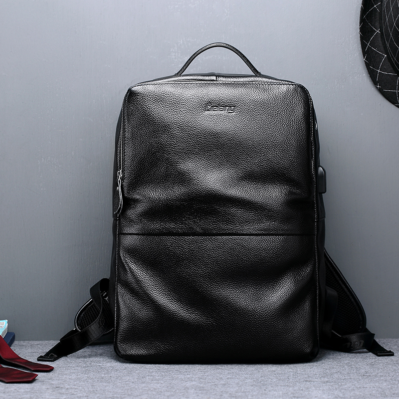 LIELANG Backpack Men Genuine Leather Rucksack Fashion Teenage Boys School Bags Laptop Backpacks 15.6 inch Travel Bag New 2019