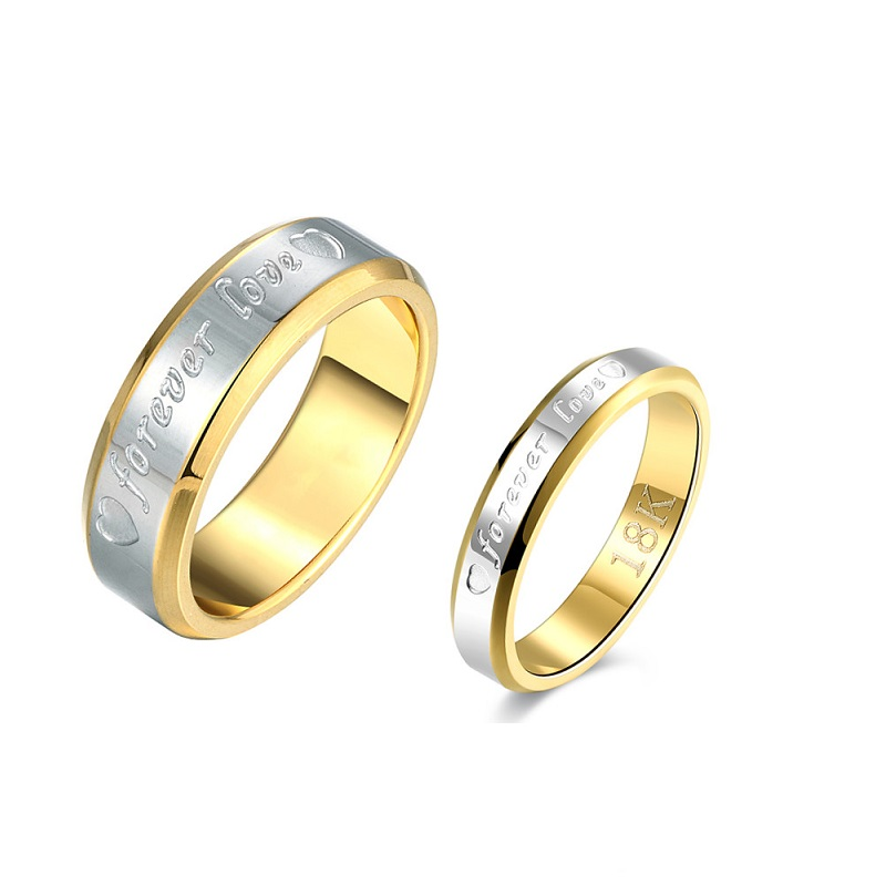 MEGREZEN Pair Rings For Lovers Anel Mens Stainless Steel Wedding