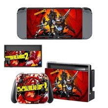 лучшая цена New Borderlands 2 Decal Vinyl Skin Sticker for Nintendo Switch NS Console + Controller + Stand Holder Protective Skin Stickers