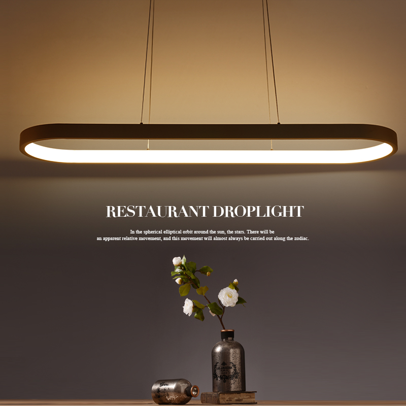 Buy new creative modern led pendant lights kitchen acrylic for Suspension metal