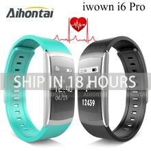 Nueva IWOWN IWOWNFIT I6 PRO Inteligente Muñequera Heart Rate Monitor IP67 A Prueba de agua Inteligente Pulsera Rastreador De Fitness apoyo IOS Andriod