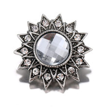 15 Styles Snap Button High Quality 18mm Metal Snap Button Rhinestone Styles Button Snaps Jewelry Wholesale(China)