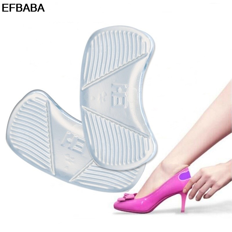 EFBABA Silicone Insole Pads Gel Cushions Shoe Sticker Pain Relief High Heel Insoles Women Shoes Inserts Accessoire Chaussure silicone insole prevent blisters pads gel cushions heel inserts shoe liners semelle chaussure palmilhas inlegzolen shoes insoles