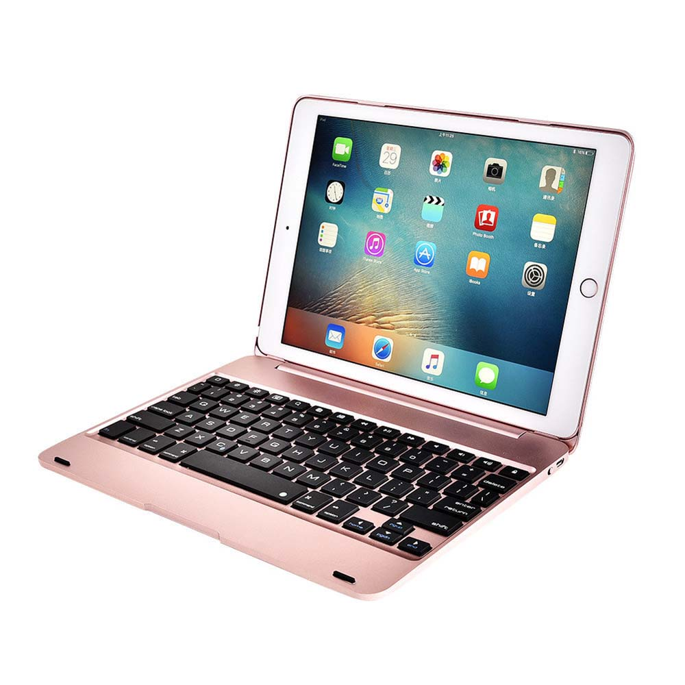 Rechargeable Bluetooth wireless <font><b>keyboard</b></font> for Apple IPad Pro 9.7 / iPad Air 1/2 foldable 78-key <font><b>case</b></font> for 60 hours image