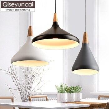 Qiseyuncai Nordic solid wood art 1 head restaurant chandelier modern minimalist creative personality study room bedroom lamp
