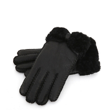 100% Genuine Fur Warm Gloves for Women 2019 Winter Real Female Leather Lady Thick Mittens Guantes