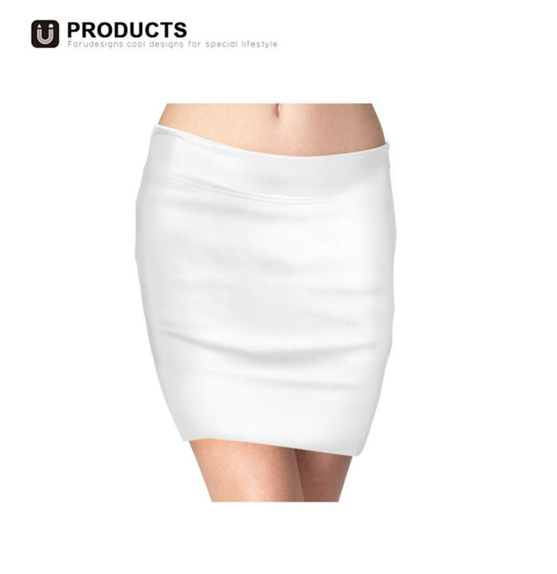 FORUDESIGNS Cute Puppy Print Women Summer Skirts Ladies Bichon Frise Flower Pattern Pencil Skirts Females Formal Office Bottoms in Skirts from Women 39 s Clothing
