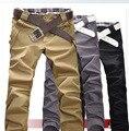 2015 Al Aire Libre de la Venta Directa por Tiempo limitado Algodón Convencional Ocio Juvenil Pop Primavera Masculinos de Los Hombres Pantalones Pantalones