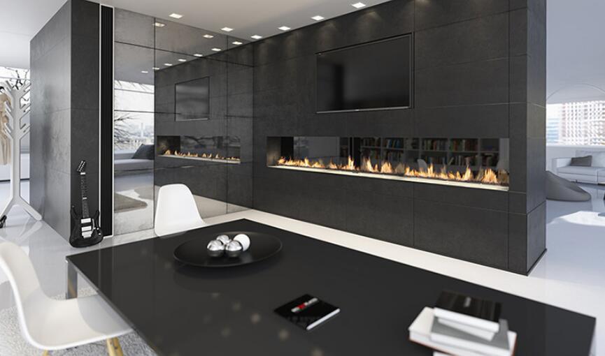 72 Inch Electric Intelligent Smart Bioethanol Linear Fireplace Insert
