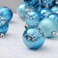 24pcs/lot Christmas Tree Decor Ball Bauble Hanging Xmas Party Ornament decorations for Home Christmas decorations 6cm cute ball