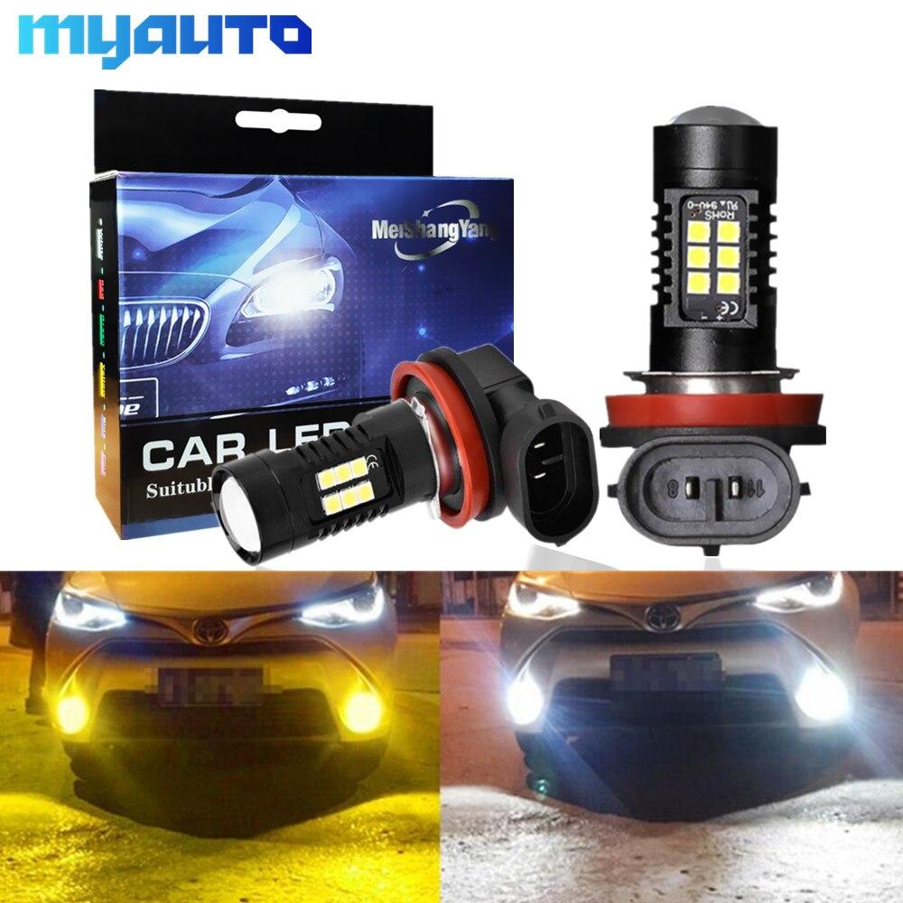 2Pcs H8 H11 Led Bulb HB4 Led Bulbs HB3 9006 9005 SMD Lights 1200LM 6000K 12V/24V White Driving Running Car Lamp Auto Light Bulbs