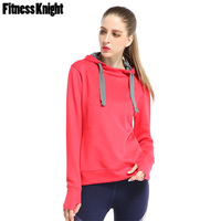 Sport Shirt Fitness Women Sport Hoodies Long Sleeve Solid Yoga Shirt Windproof Workout Jogging Running Sport Top Sports Clothing