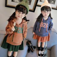 Baby Girls Casual Sports Dress Autumn Kids Boutiques Number Print Pattern Clothes Children Ruched Clothing Wholesale